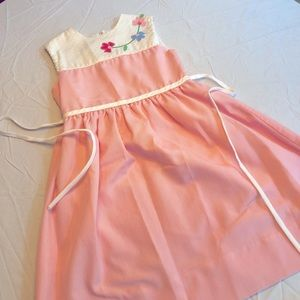 Sylvia Whyte Pink Floral Girls Dress